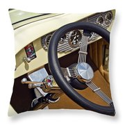Chrysler Interior Steering Wheel Classic Car American Made Throw Pillow