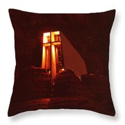 Chapel At Night Throw Pillow
