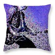 Chuck Berry Rocks Abstract Throw Pillow