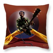 Chuck Berry - This Is How We Do It Throw Pillow by Reggie Duffie