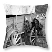 Chuck Wagon - Bw 02 Throw Pillow