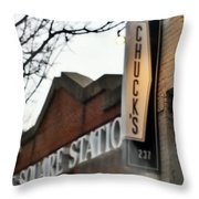 Chuck's Raleigh Throw Pillow