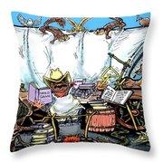 Chuckwagon Throw Pillow