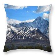 Chugach Mountain Range Throw Pillow