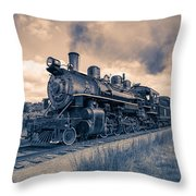 Full Steam Through The Meadow Throw Pillow