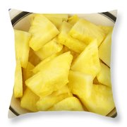 Chunks Of Pineapple Throw Pillow
