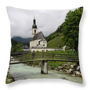 Church - Pfarrkirche St. Sebastian Throw Pillow