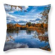 Church Across The River Throw Pillow