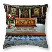 Church Alter Provence France Throw Pillow