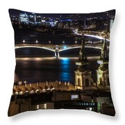 Church And Bridge Throw Pillow