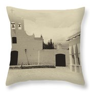 Church And Courtyard Argentina Throw Pillow