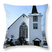 Paramus Nj - Church And Steeplechurch And Steeple Throw Pillow