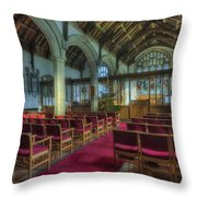 Church At Christmas V6 Throw Pillow