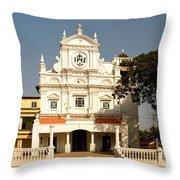 Church At Colva Throw Pillow