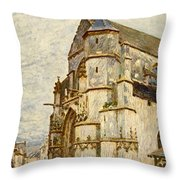 Church At Moret After The Rain Throw Pillow