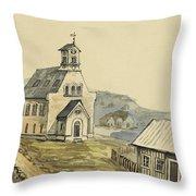 Church At Rejkjavik Iceland 1862 Throw Pillow