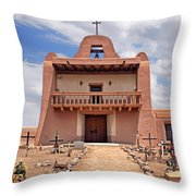 Church At San Ildefonso Throw Pillow