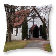 Church At The Lake Throw Pillow