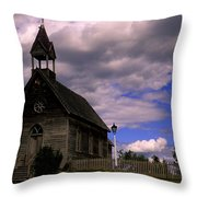 Church At The Okeefe Ranch Throw Pillow
