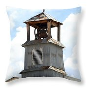 Church Bell Tower In Truchas In New Mexico Throw Pillow