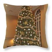 Church Christmas Tree Throw Pillow