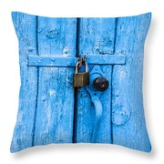 Church Door Blues Throw Pillow