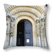 Church Door - Cathedral Bamberg - Germany Throw Pillow