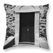 Church Door Hawaii Throw Pillow