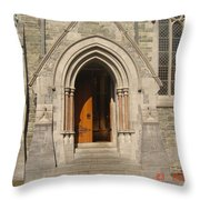 Church Entrance Throw Pillow