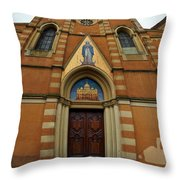 Church Entrance. Palazzolo Throw Pillow