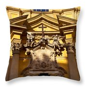 Church Facade Throw Pillow