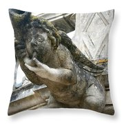 Church Gargoyle Throw Pillow