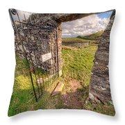 Church Gate Throw Pillow by Adrian Evans