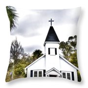 Church In A Small Town Throw Pillow