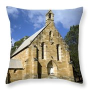 Church In Berrima A Town In Regional New South Wales Australia Throw Pillow