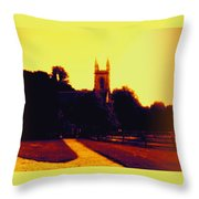 Church In Gold Throw Pillow