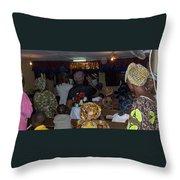 Church In Nigeria Throw Pillow