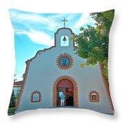 Church In San Carlos-sonora Throw Pillow