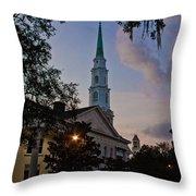 Church In Savannah Throw Pillow
