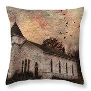 Church In The Catskills Throw Pillow