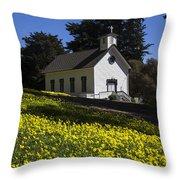 Church In The Clover Throw Pillow