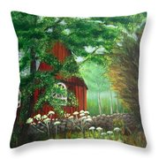 Church In The Glen Throw Pillow