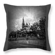 Church In The Rain Throw Pillow