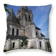 Church - Loches - France Throw Pillow