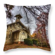 Church Of Autumn Throw Pillow