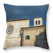 Church Of  Di San Pietro In Assisi Throw Pillow