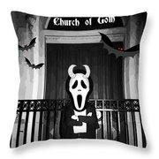 Church Of Goth Throw Pillow