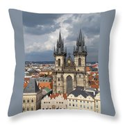Church Of Our Lady Before Tyn - Prague Throw Pillow