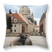 Church Of Our Lady - Dresden - Germany Throw Pillow