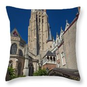 Church Of Our Lady In Bruges Throw Pillow